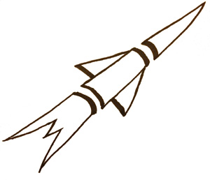 Typical Ziggy-drawn rocket.